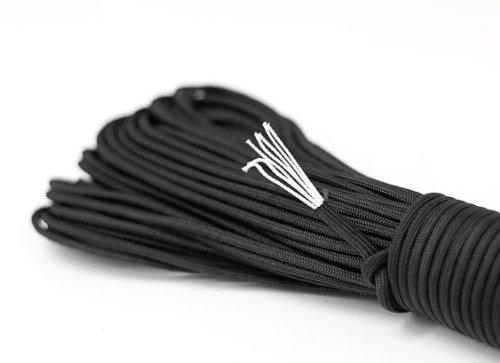 Paracord corda sopravvivenza corda fatta di resistente allo strappo Parachute Cord. Paracord Corde 550 £ 31 metri (100 piedi) in colore nero (NOTA: QUESTO CORDA PARACORD NON E 'ADATTO PER ARRAMPICATA) NEW dal PRECORN marchio