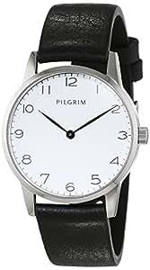 Pilgrim - 701536110 - Montre Femme - Quartz - Analogique - Bracelet cuir noir