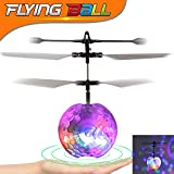 TURNMEON RC Flying Toy, Remote Control Led Flying Ball Helicopter Light Up Novelty Toys Hand Spinner Drone Infrared Induction Helicopter for Boys Girls Adults Indoor Outdoor Birthday