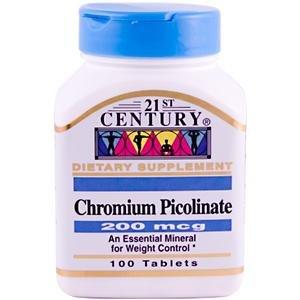 21st Century Health Care, Chrompicolinat, 200 mcg, 100 Tabletten