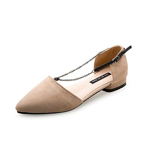 Latérale sortie lumière point chaussures femme au printemps/Chaussures à talon plat/la version coréenne des chaussures Joker simple scoop C