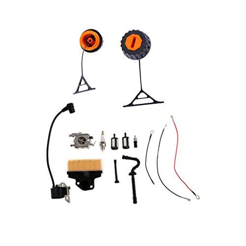 MagiDeal Vergaserteile Zündspule Vergaser Teil + Filter Tankdeckel Ölkappe Für STIHL 020 021 023 024 025 026 028 034 036 038 048
