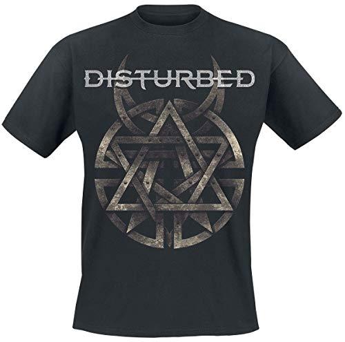 Disturbed Symbol T-Shirt schwarz L (Schwarze Symbole T-shirt)
