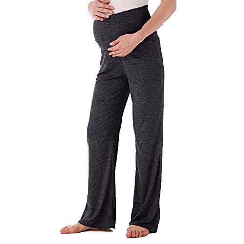 Lonshell_Schwangerschaftshose Nachthose Schlafanzughosen Umstandsmode Pyjamahose Lose Freizeithose mit Bauchband Umstands Trousers Mutterschaft Nachthose