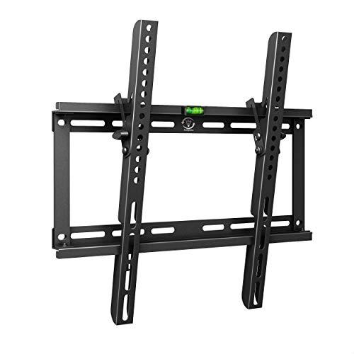 TV Wandhalterung Universal Fernseh Halterung Neigbar Super Flach Wand Halter Aufhängung auch für Curved LCD und LED Fernseher | ca. 81-140cm / 32-55 Zoll | VESA 200x100 400x400 | Schwarz