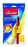 Vileda 146096 Guanto Super Grip, ideale per lavori di pulizia domestica, rilievo antiscivolo, fodera interna in cotone, giallo