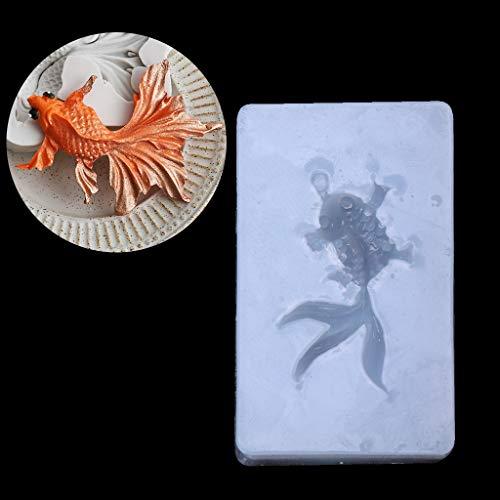 Cuigu Goldfish Anhänger, Anhänger, Silikonform, Kunstharz, zum Basteln, Schmuckherstellung, Meterware