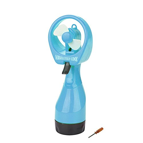 Routinfly Wasserspray-Ventilator - Tragbarer Handkühlventilator-Nebel-Ventilator-Sommer-Reise (Blau)