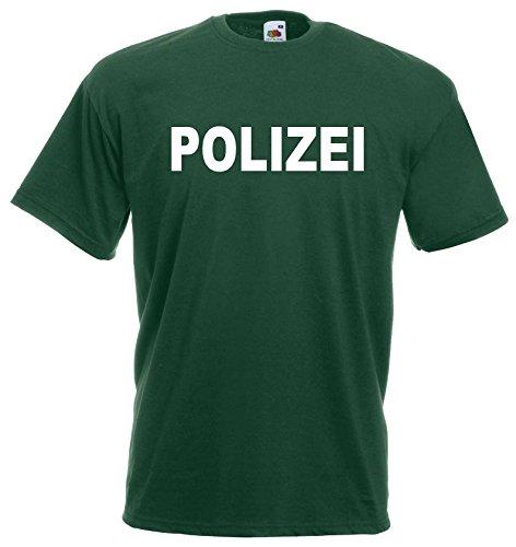 world-of-shirt Herren T-Shirt POLIZEI Funshirt|grün-L