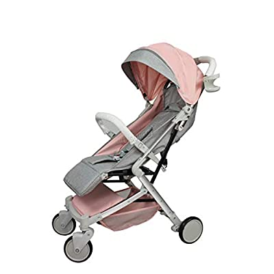 FoxHunter Foldable Baby Stroller Pushchair Pram Child Toddler Buggy Adjustable High View Travel BS03 Pink