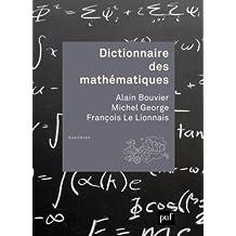 Dictionnaire des mathématiques