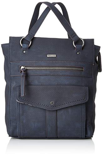 Tamaris Damen Adriana Backpack Rucksackhandtasche, Blau (Navy) 10x28x25 cm