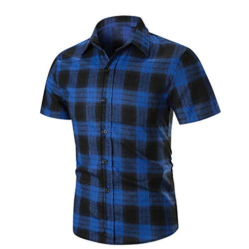 Yvelands Herren T-Shirts Hemd Druckstreifen Farbverlauf Lässige Mode Revers ()
