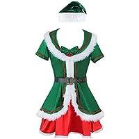 Kimring Women's Plus Size Cute Santa's Helper Christmas Elf (Plus Size Di Santa Suit)