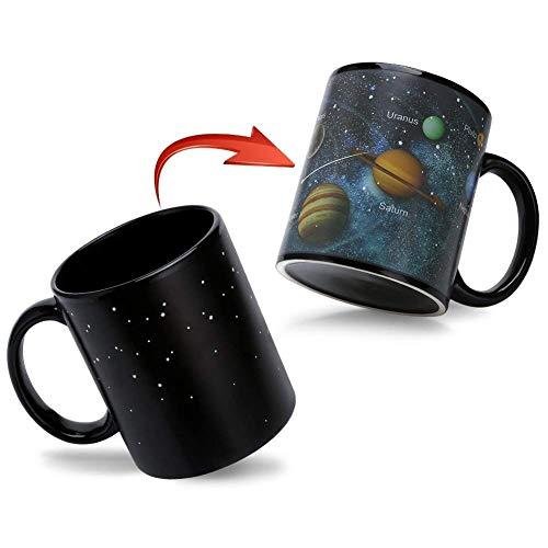 (Doublewhale Magische Kaffeetasse,Tasse Thermoeffekt Sonnensystem Geschenk Fuer Maenner Papa Geschenkideen Lustige Kaffeetassen 12Oz/350ml Keramik Becher Tassen Geschenke für Männer/Mann)