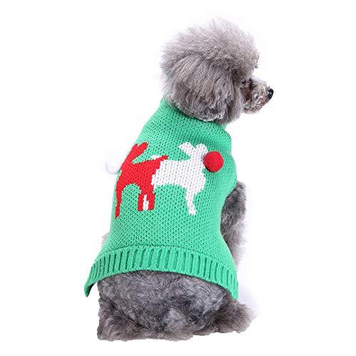Zolimx Haustier-Hundekatze- Katzenpullover Sweater Winter-Warmer Rotwild-Strickjacke-Mantel-Kostüm-Kleid