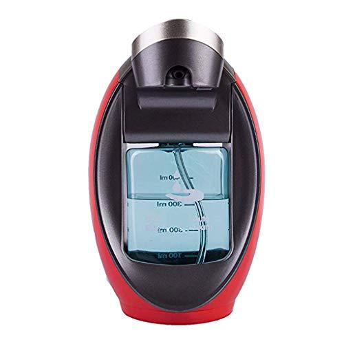 B Blesiya 1 Stück Flüssigkeitsspender aus Kunststoff Öl Wasser Seifen Dispenser Flasche Kapazität : 480ml, Automatischer IR-Sensor - rot - Schäumende Seife Flaschen