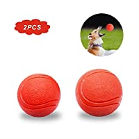 Loritada 2-Pack Solid Rubber Dog Balls,Dog Toy Balls Durable Interactive Fetch chew,Virtually Indestructible.