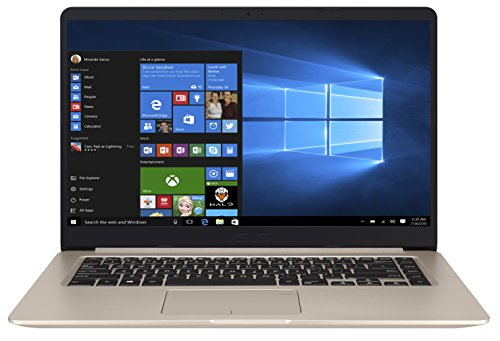 ASUS VivoBook S15 S510UQ (90NB0FM1-M05160) 39,6 cm (15.6 Zoll, HD, matt) Laptop (Intel Core i5-7200U, 8GB RAM, 128GB SSD + 1TB, NVIDIA 940MX (2GB), Windows 10) gold metall