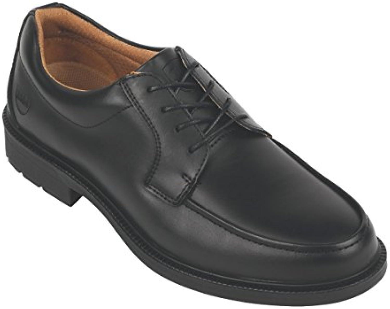 Ciudad caballeros Derby Tie Executive zapatos de seguridad negro tamaño 9