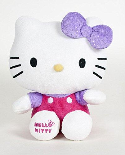 "Hello Kitty - Violet Shiny Ribbon Plush - 20cm 8"""