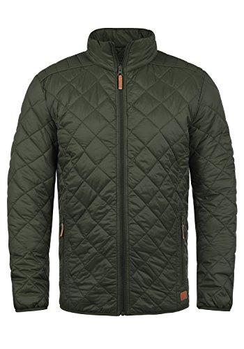 Blend Stanley Herren Steppjacke Übergangsjacke Jacke Mit Stehkragen, Größe:XL, Farbe:Peat Green (77200)
