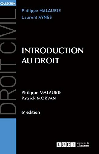 Introduction au droit, 6ème Ed.