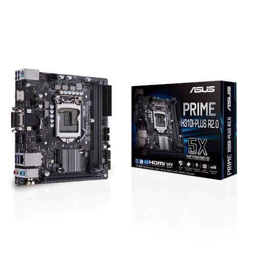 ASUS Prime H310I-PLUS R2.0 LGA 1151 (Buchse H4) Intel® H310 Mini ITX - Motherboards (DDR4-SDRAM, DIMM, 2133,2400,2666 MHz, Dual, 32 GB, Intel) (Asus I5 Motherboard)