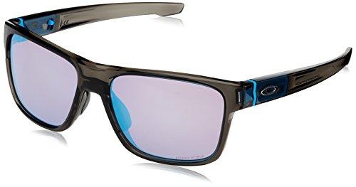 Oakley Herren Crossrange 936108 57 Sonnenbrille, Grau (Grey Smoke/Prizmsapphiresnow),