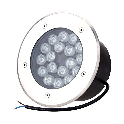 Docooler 12V-24V Spot Encastrable au Sol 18W LED Encastrable Exterieur Rez-de-jardin Chemin étage Escalier Souterrain Buried Paysage Lumière IP67 Jardin Lamp Post étanche