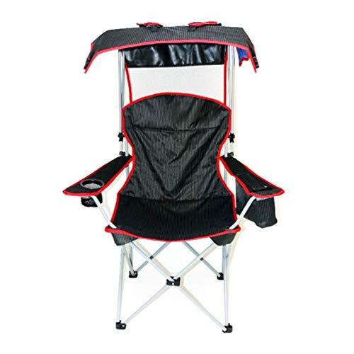 Lcxligang Outdoor Camping Stuhl mit Markise Klappstühle tragbare Camping, Grill, Strand, Reisen, Picknick mit Aufbewahrungstasche