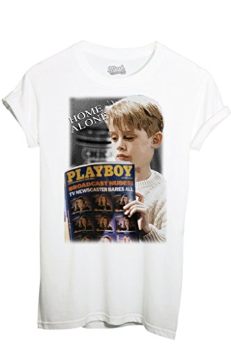 T-Shirt MAMMA, HO PERSO L'AEREO PLAYBOY - FILM by MUSH Dress Your Style - Uomo-L-BIANCA