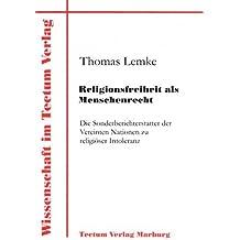 Religionsfreiheit als Menschenrecht (Wissenschaft Im Tectum Verlag)