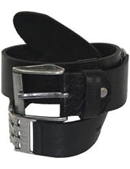 Redbridge Herren Ledergürtel Gürtel 2104 Größe 110 cm - 125 cm, schwarz