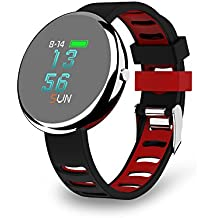 Smartwatch, Smart Watch IP67 Impermeabile Sport Fitness Tracker Orologio Curvo 2.5D Vetro OLED Monitor di Frequenza Cardiaca Contapassi Sonno Monitor Notifica Push/Remote Camera per Android iOS Phone