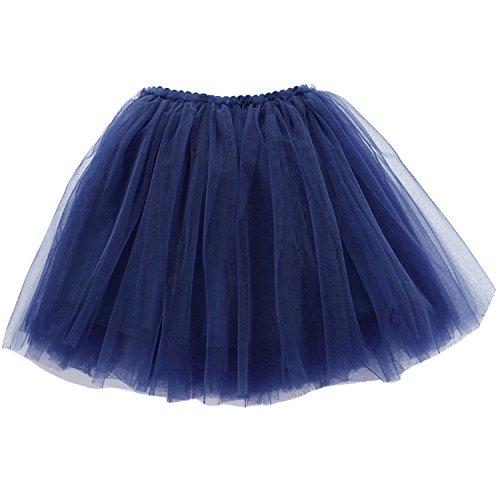n Tüllrock einfarbig Tütü Ballerina Tutu Kostüm Tütü Prinzessin Rock Alltag Rock Kleinkind Mädchen Ballettkleid Drei-schichten Puff Rock Größe 110 - Blau (Blaue Ballerina Kostüme)
