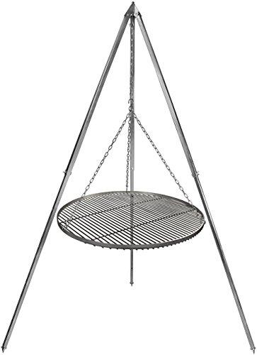 Schwenkgrill Grillrost Edelstahl 60 cm Durchmesser Dreibein 2,10 m verzinkt