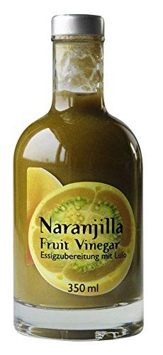 Naranjilla-Essig - Als feinschmecker Frucht-Essig-Geschenk-Set - Naranjilla Fruit Vinegar - Super geeignet als Sushi-Essig - Aus dem guten Lulopüree - von Feuer & Glas Sushi Glas