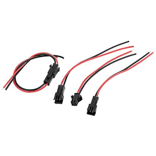sourcingmap® 5pcs 10cm 2.54mm connecteurs JST Mâle Câble Ligne Fil