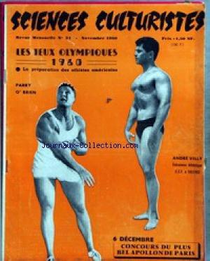 SCIENCES CULTURISTES [No 31] du 01/11/1960 - LES JEUX OLYMPIQUES 1960 - PARRY O'BRIEN - ANDRE VELLY.