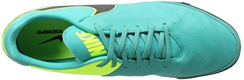 Nike Tiempox Genio Ii Leather Tf, Entraînement de football homme Vert - Verde (Clear Jade / Black-Volt)