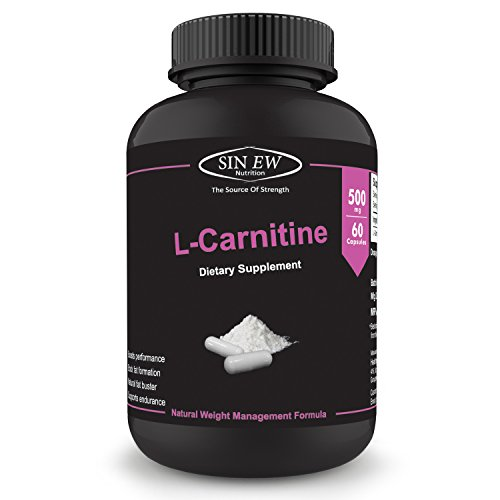 Sinew Nutrition L-Carnitine - (60 Capsules) 500 mg per Serving,...