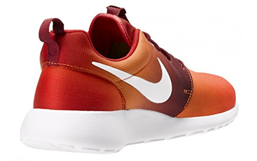 Nike Roshe One Print, chaussures de course homme Blanc-Orange
