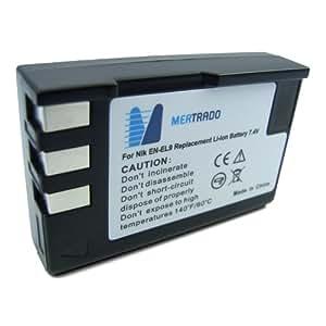 Mertrado - Batterie haute qualité pour Nikon D60 / D40x / D40 / D5000 / D3000 - semblable à EN-EL9a / EN-EL9