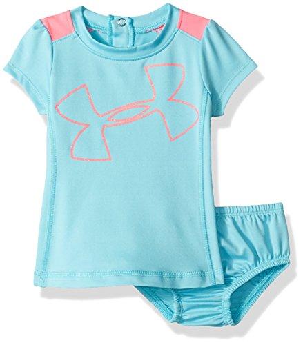 Under Armour Baby Girls' Big Logo Dress, Venetian Blue, 3-6M (Venetian 3)