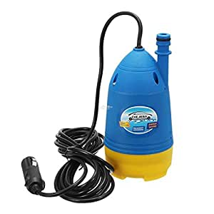 R Dabhi Plastic 12V High Pressure Automatic car Washer with Water Spray Gun and 10m Hose Pipe and Submersible Pumps (Blue)