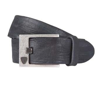STRELLSON ceinture hommes ceinture en cuir noir 1691, Länge:100 cm, Farbe:schwarz
