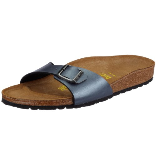 Birkenstock Madrid - 440783 Sandali unisex adulto - Stretta - Grigio (Ice Pearl Onyx), IT 40 (7 UK)