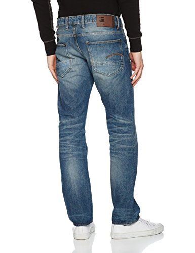 G-STAR RAW Herren Jeanshose Revend Straight Blau (Medium Aged 071)