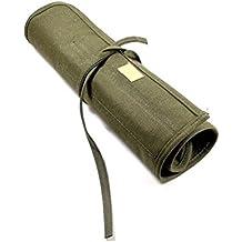 LEORX arte pintura cepillo estuche enrollable bolsa–Verde